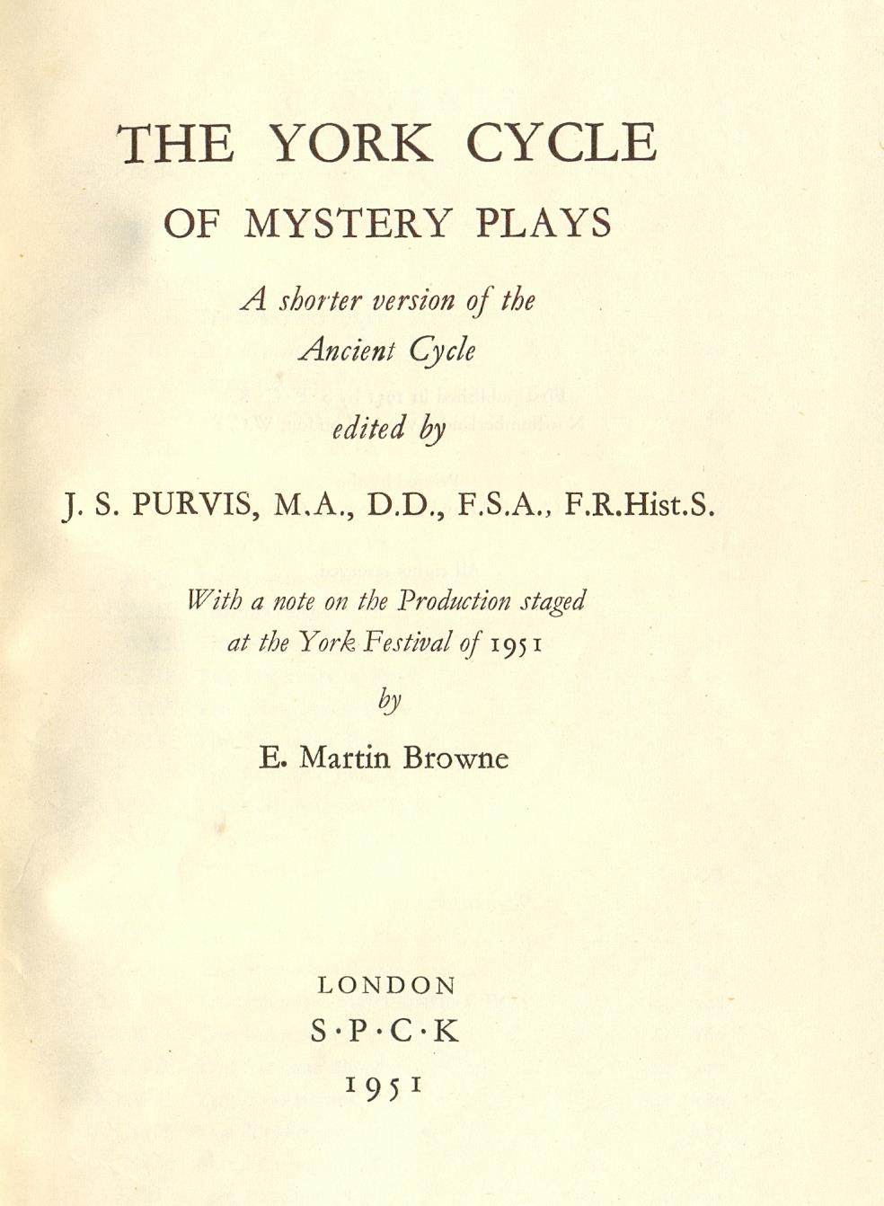 1951 title page