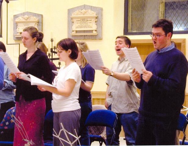 Choir rehearsal 2000
