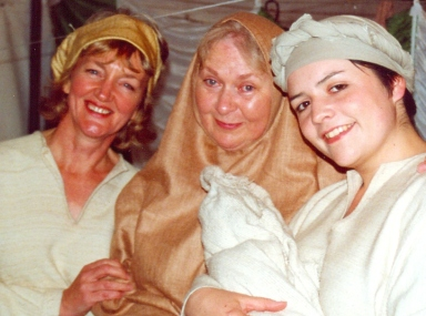 Linda Terry (left) with Bethlehem family