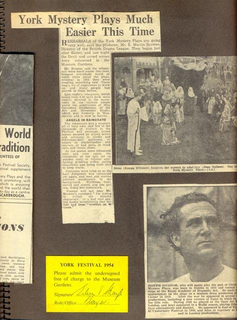 1954 scrapbook page