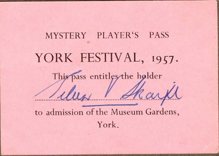 Actor's Pass to Museum Gardens