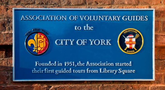 York Guides plaque